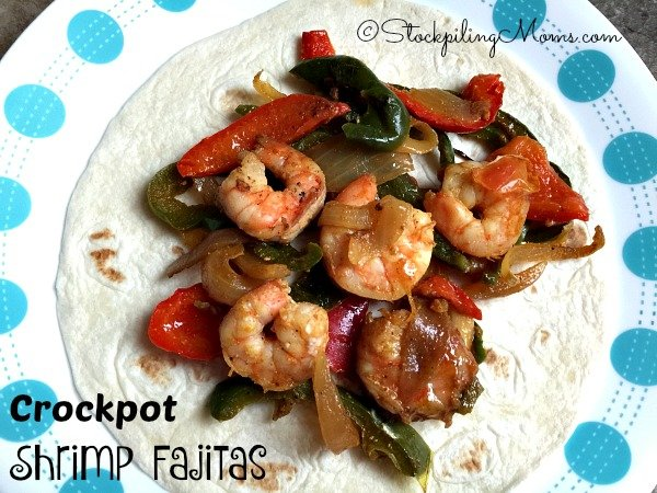 Crockpot Shrimp Fajitas recipe is delicious and you can make it all right in your slow cooker!