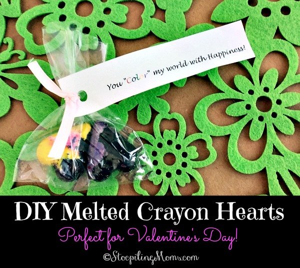DIY Melted Crayon Hearts are perfect to make for Valentine's Day!