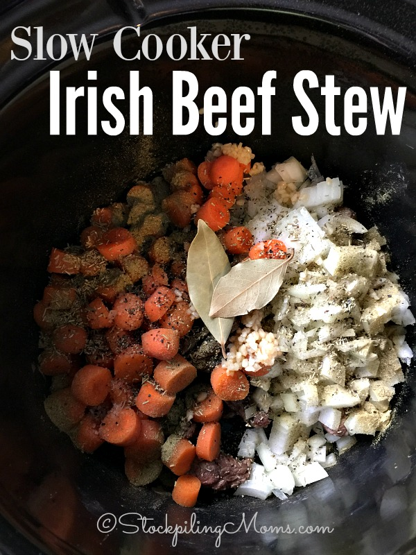 Slow Cooker Irish Beef Stew recipe is such an easy dinner meal and perfect for St. Patrick's Day !