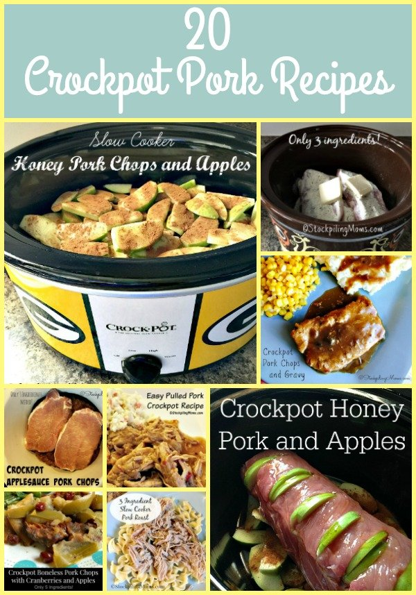 20 Crockpot Pork Recipes that taste delicious and are easy to make for lunch or dinner!