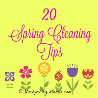 20 Spring Cleaning Tips