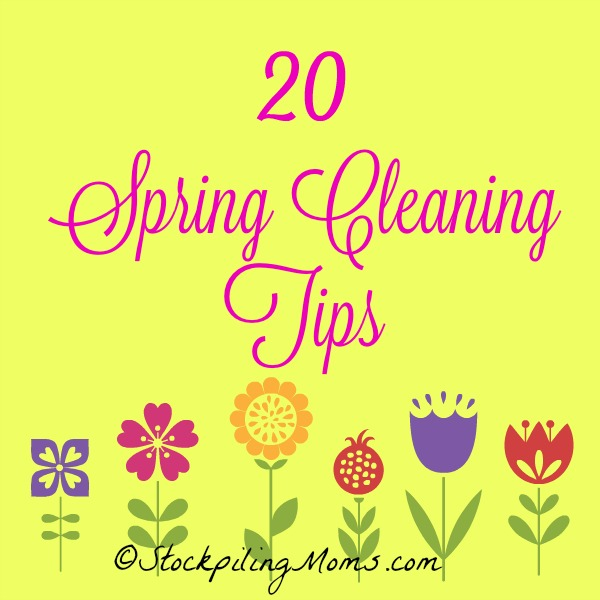 20 Spring Cleaning Tips to get your house clean from top to bottom!