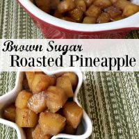 Brown Sugar Roasted Pineapple