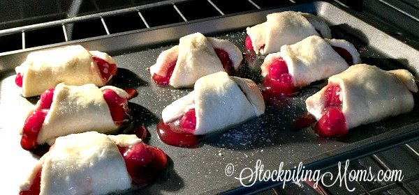 Cherry Crescent Rolls recipe is great for an after school snack or after dinner dessert! Only 3 ingredients needed.