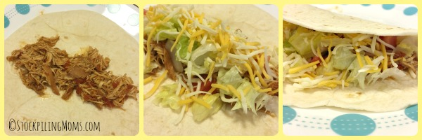 Crockpot Chicken Tacos recipe has only 4 ingredients and tastes so good!