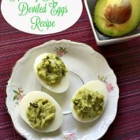 Healthy Avocado Deviled Eggs Recipe