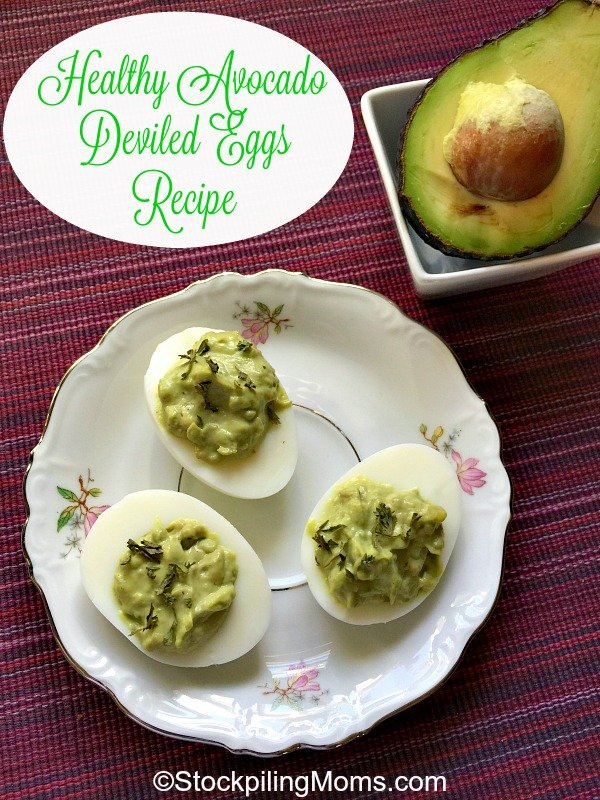 Healthy Avocado Deviled Eggs Recipe is the perfect appetizer for Easter this weekend!