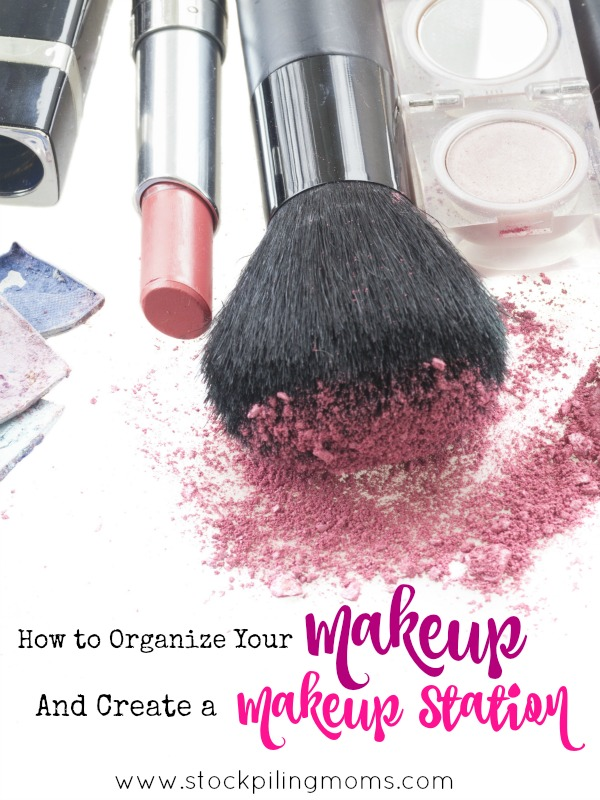 How to Organize Your Makeup And Create a Makeup Station