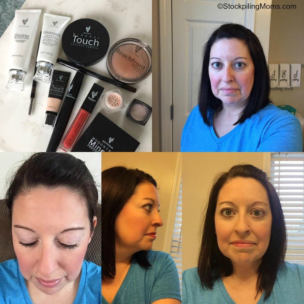 Younique Makeup Before and After in only 10 minutes or Less!
