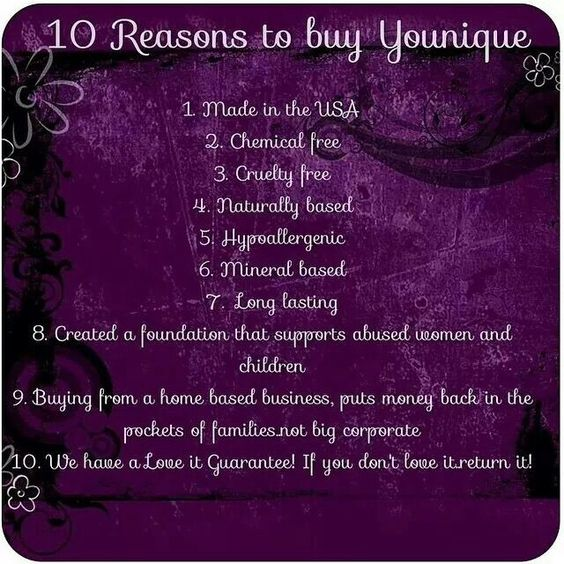 10 Reasons to buy Younique