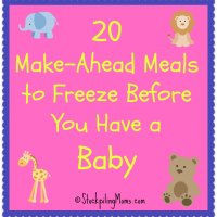 20 Make-Ahead Meals to Freeze Before You Have a Baby