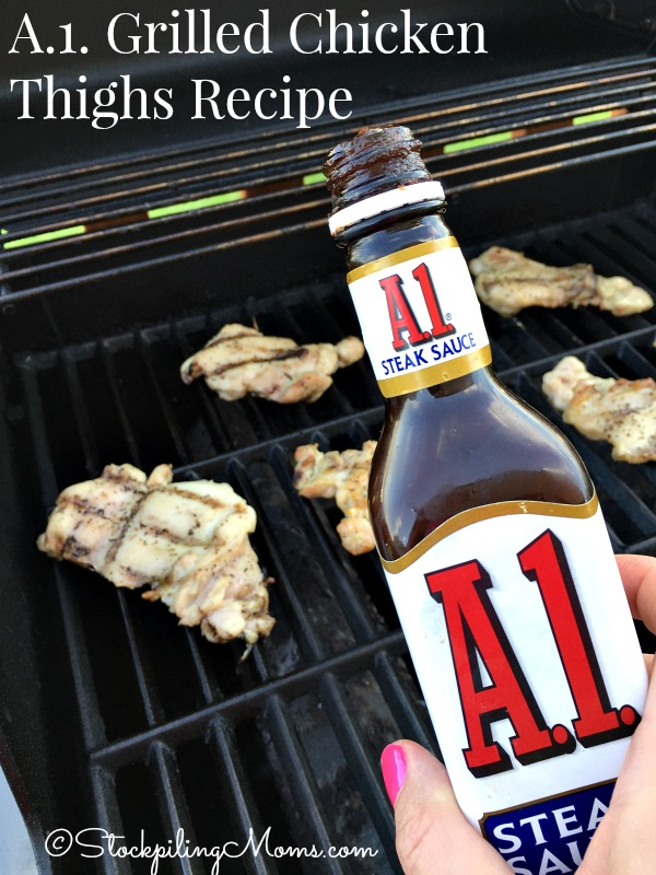 A.1. Grilled Chicken Thighs Recipe is super easy to make with only 2 ingredients!