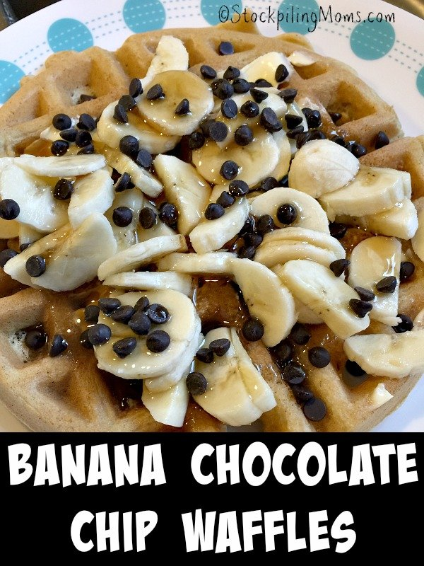 Banana Chocolate Chip Waffles are the best breakfast recipe EVER!