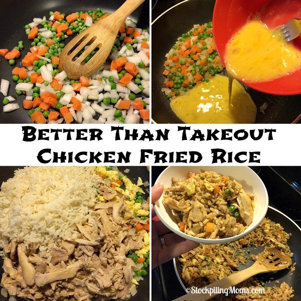 Better Than Takeout Chicken Fried Rice recipe tastes so good and will save you money!