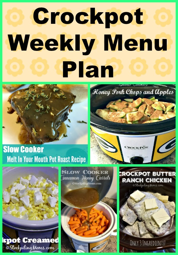 Here is our Crockpot Weekly Menu Plan to help us save time and money on dinner recipes this week!