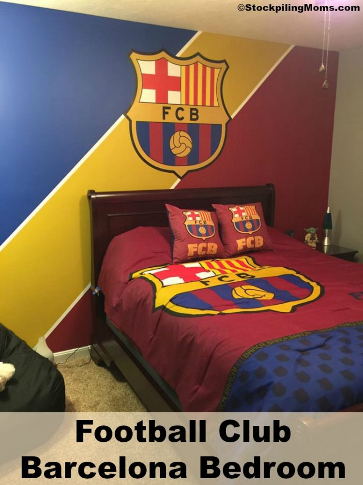 decoration chambre fc barcelone. Black Bedroom Furniture Sets. Home Design Ideas