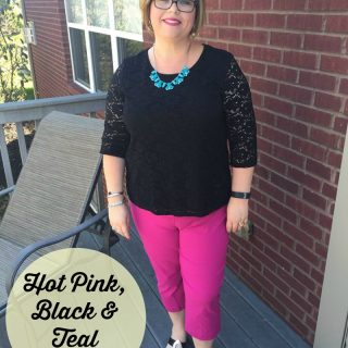 Why I am in LOVE with this Hot Pink, Black and Teal Outfit