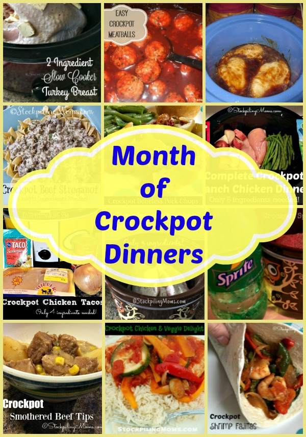 Month of Crockpot Dinners