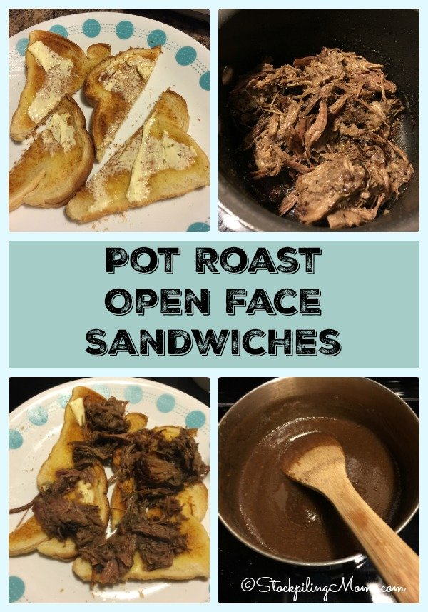 Pot Roast Open Face Sandwiches is a great recipe for left overs!