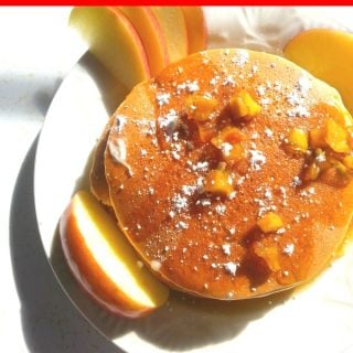 Don't miss our delicious Gluten Free Skinny Apple Pancakes! A great healthier choice for your weekend breakfast!