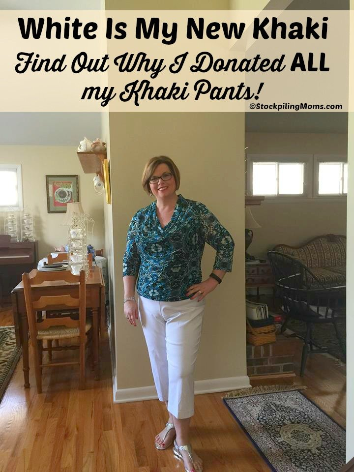 White is my new Khaki! Find Out Why I donated ALL my khaki pants!