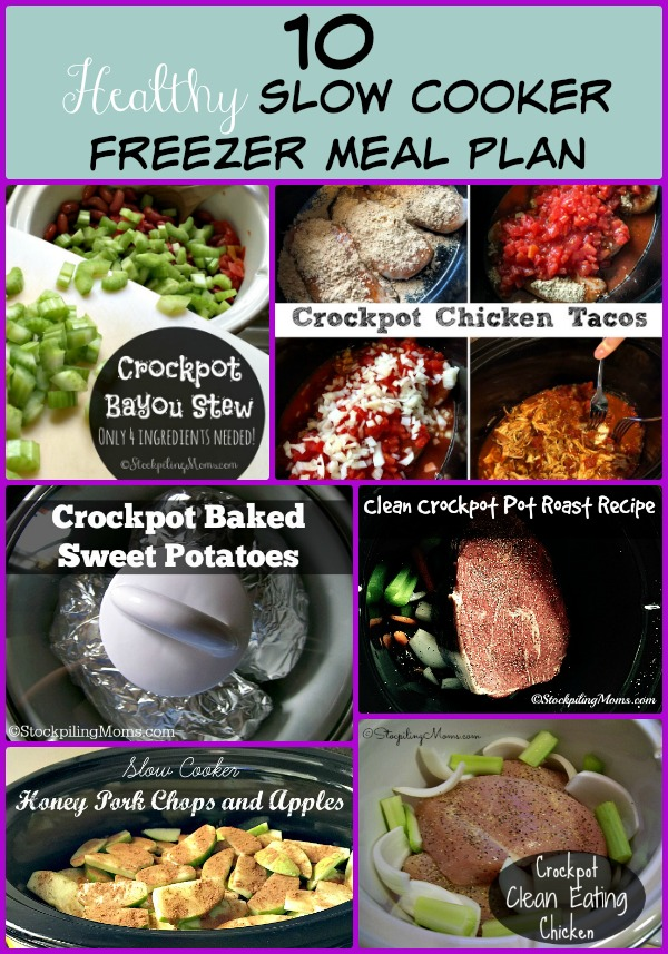 Here is a 10 Healthy Slow Cooker Freezer Meal Plan that is perfect for summer!