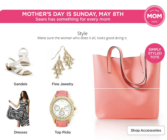 Mothers Day Wishlist From Sears