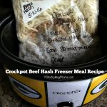 Crockpot Beef Hash Freezer Meal Recipe