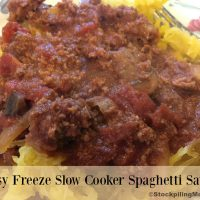 Easy Freeze Slow Cooker Spaghetti Sauce - 2