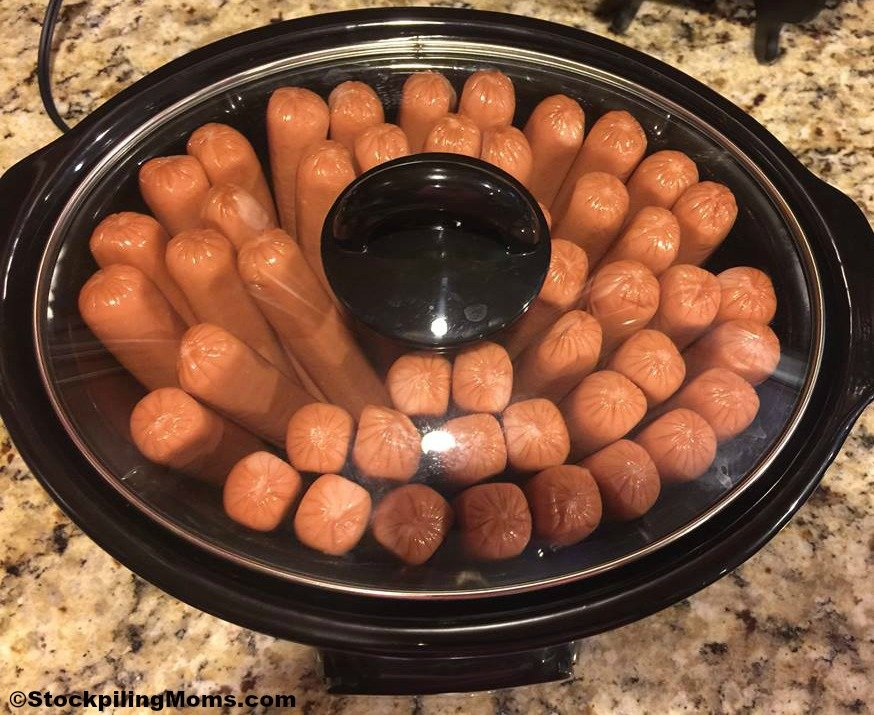 Nov 03,  · Combine all ingredients except hot dogs in a 4 to 6-quart slow cooker. Cut hot dogs into 1 to 2-inch lengths and stir into the bean mixture. Cover and cook on LOW for 5 to 6 hours/5(4).