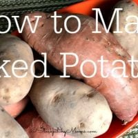 How to Make Baked Potatoes