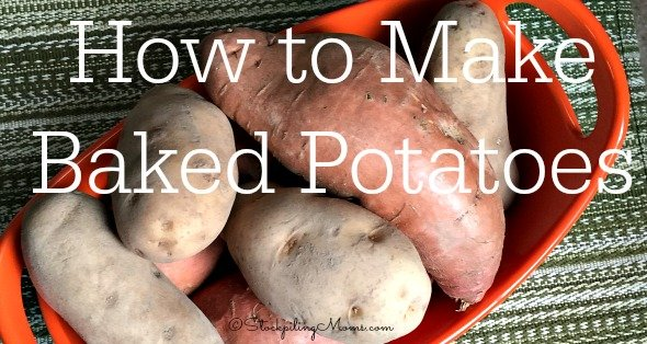 How to Make Baked Potatoes step by step directions for sweet potatoes or russet potatoes!