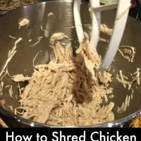 How to Shred Chicken Using a Mixer