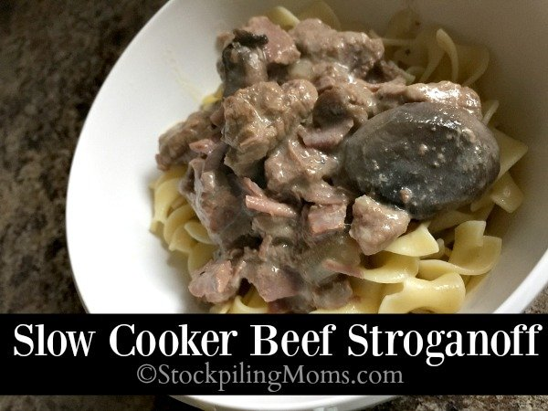 Slow Cooker Beef Stroganoff is a delicious freezer meal that is perfect for summer time!