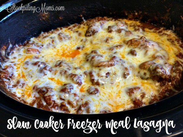This delicious recipe for Slow Cooker Freezer Meal Lasagna is so good and will save you time and money on dinner!