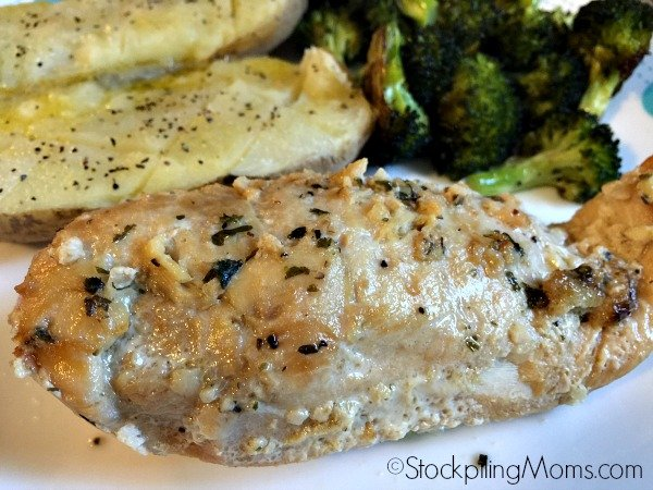 Slow Cooker Garlic Lemon Chicken Freezer Meal Recipe is so easy to prep and tastes delicious!
