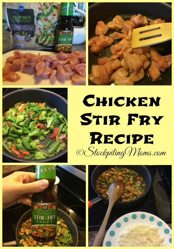 This easy Chicken Stir Fry Recipe takes less than 30 minutes to make and tastes good!