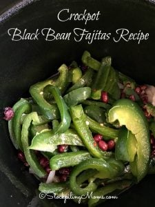 Crockpot Black Bean Fajitas Recipe