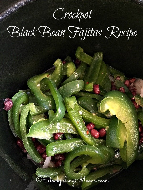 Crockpot Black Bean Fajitas Recipe is a flavorful, vegan slow cooker freezer meal!