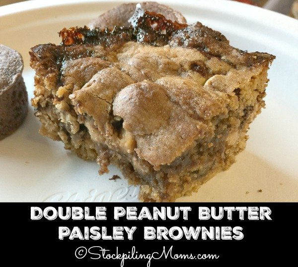 Double Peanut Butter Paisley Brownies recipe is the only brownie recipe you will ever need, it is so good!