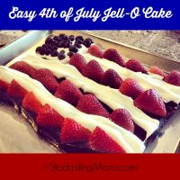Easy 4th of July Jell-O Cake
