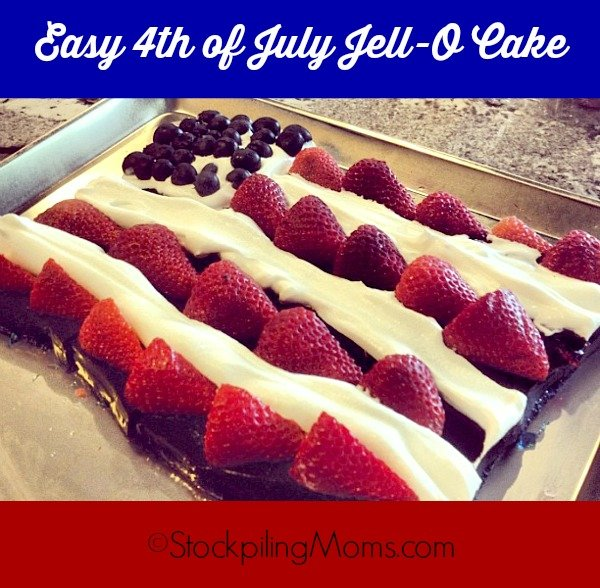 This Easy 4th of July Jell-O Cake is the perfect way to celebrate America's independence!