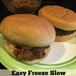 Easy Freeze Slow Cooker Sloppy Joes