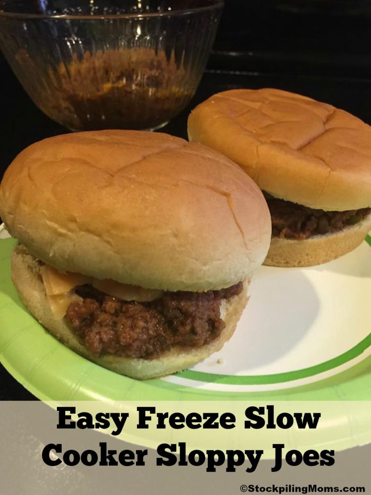 Easy Freeze Slow Cooker Sloppy Joes Recipe is the perfect recipe for busy weeknights and your family will love this one!