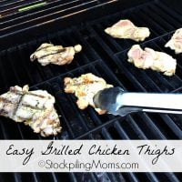 Easy Grilled Chicken Thighs