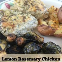 Lemon Rosemary Chicken - Healthy Easy Freeze Slow Cooker Supper