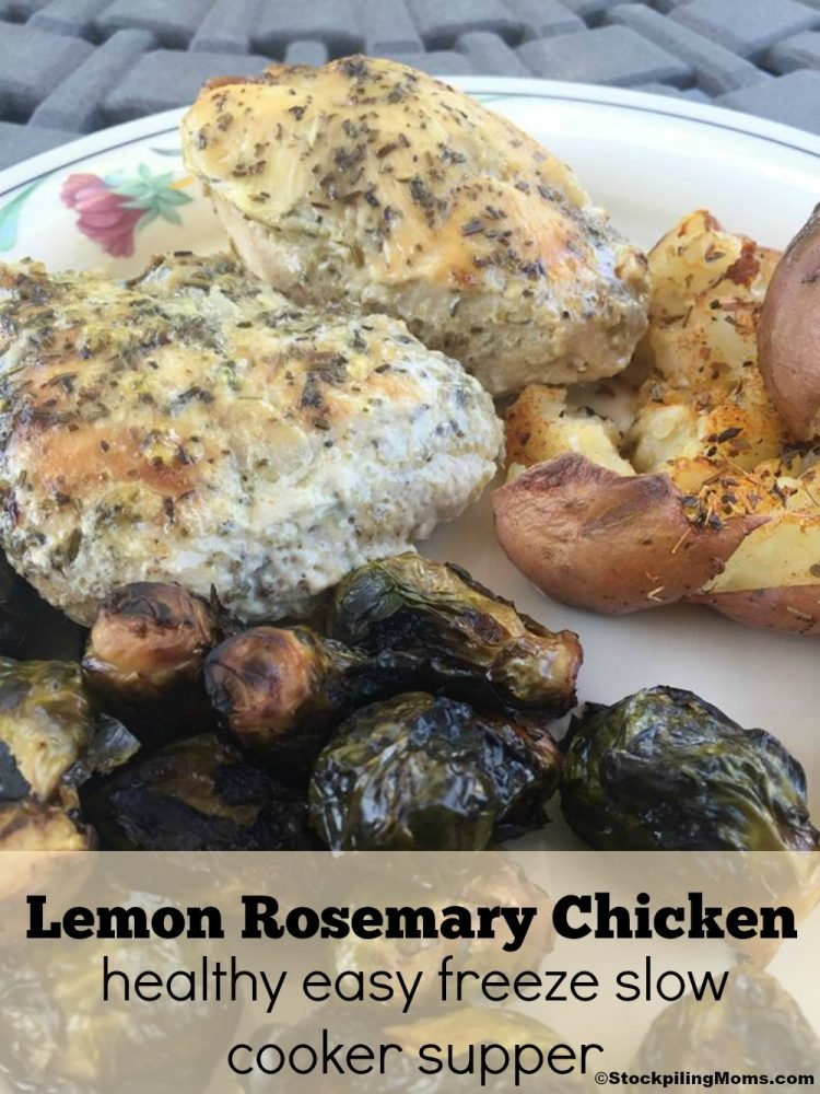 Lemon Rosemary Chicken Freezer Meal is healthy and light. Perfect for busy weeknights.