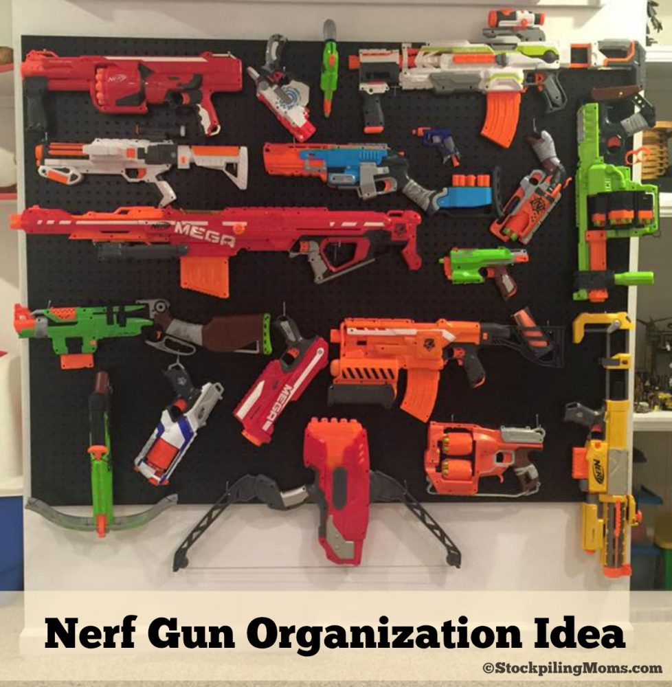 Nerf Gun Organization Idea