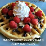 Raspberry Chocolate Chip Waffles