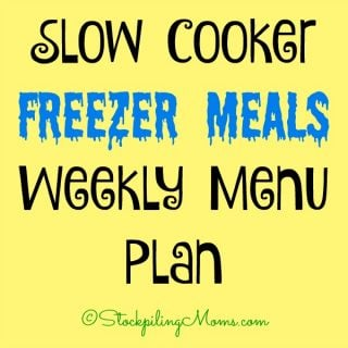 Fall Slow Cooker Freezer Meals Weekly Menu Plan